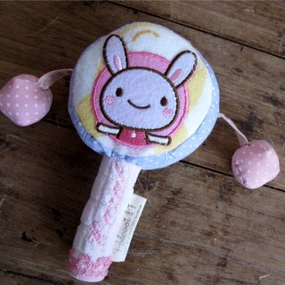 [] Pure hand-made baby hand tambourine / rattle / births and gift / cloth toys