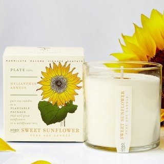 KOBO series of non-genetically modified soybean seeds fragrance candle - Honey Sunflower
