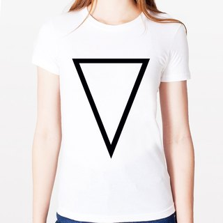Inverted Prism A Girl T-shirt -2 color triangle geometric fashion design cheap own brand