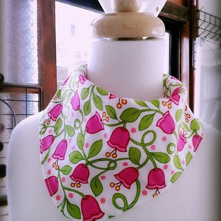 Campanula flower vines triangle scarf / bibs