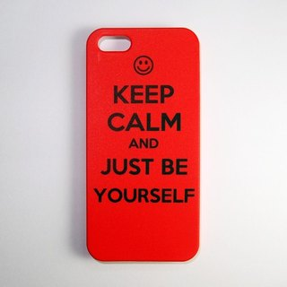 SO GEEK 手機殼設計品牌 THE KEEP CALM GEEK JUST BE YOURSELF款(紅)