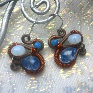 Wire Dance Earrings - Trio