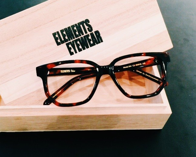 1debdd36d0 Red Tortoise Square Rectangle eyeglasses frame eyewear Handmade in Japan - Designer  elements-eyewear