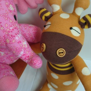 Short-necked deer / doll / sock doll / giraffe