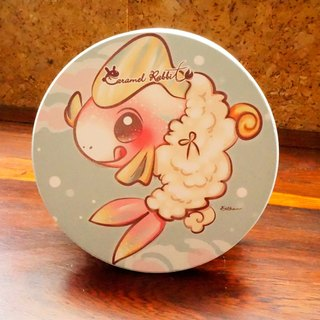 Caramel Rabbit - absorbent ceramic coaster ★ sheep baa series - Shrimp small Hawaii
