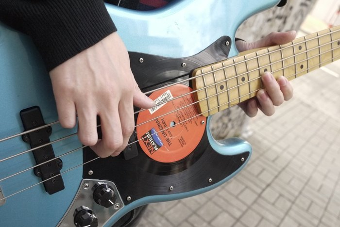 Bass Guitar Record Vinyl Custom Handguard Pickguard Jazz