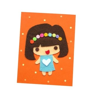 Handmade Card Universal Card _ Character Doll A ... Birthday Card, Valentine Card, Thank You Card
