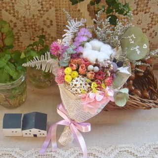 Masako eternal & dry pollen purple white dichotoma romantic bouquet birthday gift props
