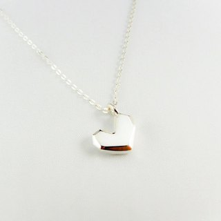 Love Silver Necklace <The Power of Love> pure hand-made Mother's Day / Valentine's Day / clavicle chain / gift / anniversary