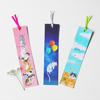 fish cat tricolor bookmark