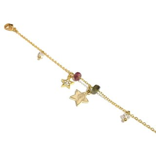 Little Tourmaline with Star Charm Bracelet