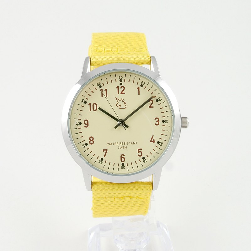 [UNI BASIC] Japanese military wind wrist watch (Light khaki yellow)