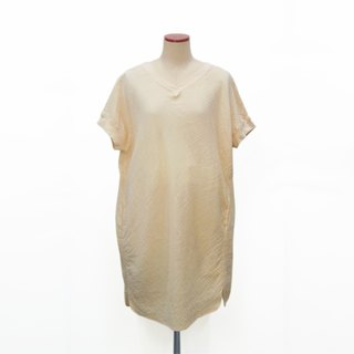 Botanical dyed Lily of the valley dyed cotton double gauze relax tunic