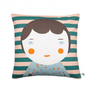 Elfie Cotton Pillow - Brown Hair | Donna Wilson