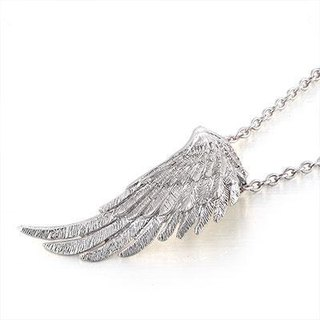 Angel Wings (left) 925 sterling silver necklace angel wings wings necklace gift valentines anniversary anniversary gift