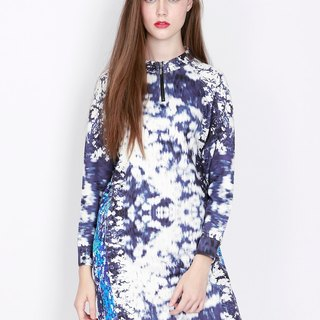 ZIZTAR flower leather dress
