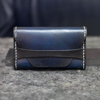 Leather handmade leather card holder / change box