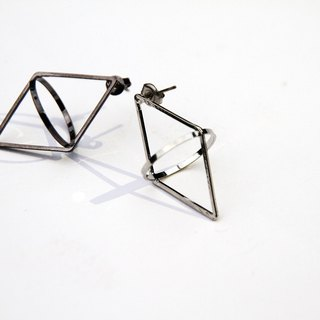 Rhombus 3D Earring(Each one)