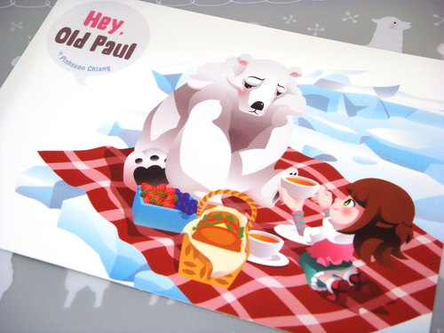 【Pin】Picnic at the North Pole│Print│Postcard