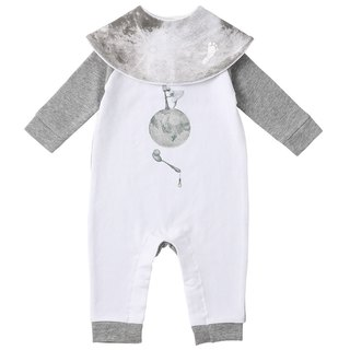 Japan MARLMARL took me to the moon moon baby + Limited Edition bib (designer joint models)