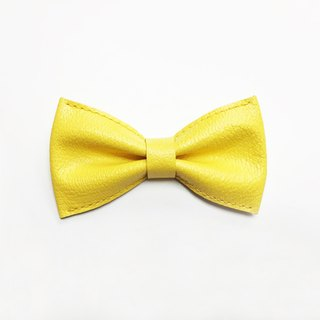 Hermes yellow suede bow tie Hermes Yellow Goats Leather Bowtie