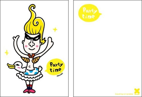 Kuka / postcard -PARTY TIME / HAPPY TIME (two)