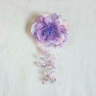 [MITHX] cherry color, summer feast, a small side clip brooch, styling hair accessories - Purple