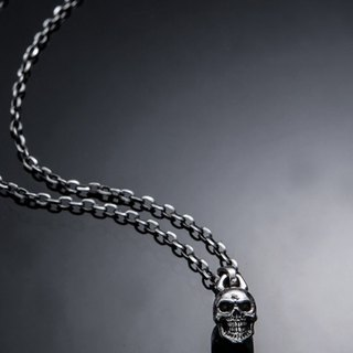Skull Pendant S Type | Simple skull pendant S