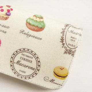 Sweet Macaroon afternoon tea. Waterproof short clip (beige) / wallet / wallet / purse (the original cloth has been sold out, please choose the color of cloth)