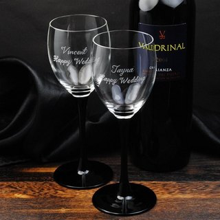 (One pair price) 190cc [black] fashion wedding theme wedding glass of red wine on Memorial Cup - France black swan tall wine glass wedding gift
