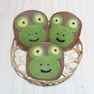 JMI hand-made baking frog prince styling handmade biscuits (10 sheets, 5 sachets in total)