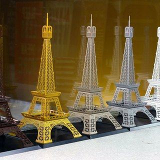 [OPUS East Qi metalworking] Paris Paris iron tower model Tayifeier Breakfast cafe shop shooting props wedding decorations home style restaurant decorated