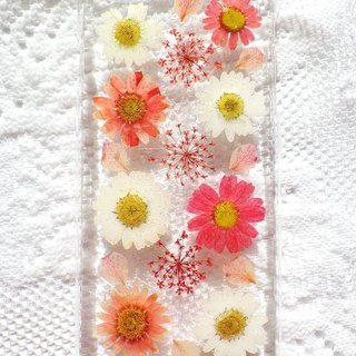 Anny's workshop hand-made pressed flower phone case, Leucanthemum Paludosum series