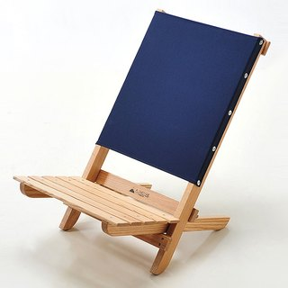 A.NATIVE outdoor camping picnic ground wooden folding chair / navy