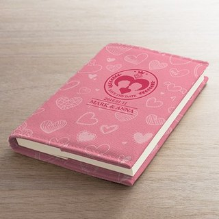 [Valentine's] romantic pink clothes cloth book notebook AT2-VLTM2