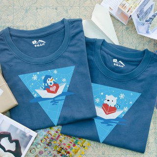 [Valentine's Day Gift] Antarctic Penguin and Polar Bear Couples with Sisters Loading Cotton T Long Sleeve T-shirt