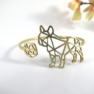 french bulldog geometric bracelet