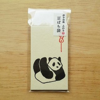 Japan Iyo and paper and paper Fuwari mini bags of jade. Red envelopes [Panda (FMP10303)]