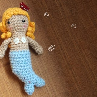 Amigurumi crochet doll: Mermaid Doll, Water Blue tail