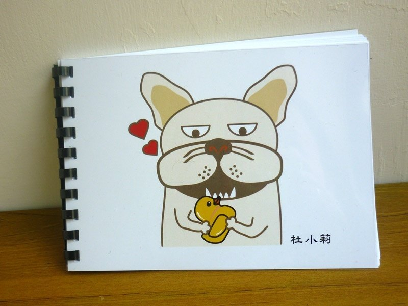 Fighting notebook 冏 冏 face - French bulldog graffiti this A5 handbook size