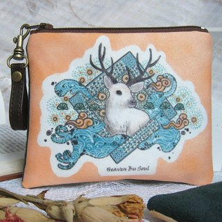 <Animals in the Secret Land> As the Deer coin purses ( big size)