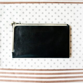 Long wallet,Wallet, Frame Purse /L design cell/black