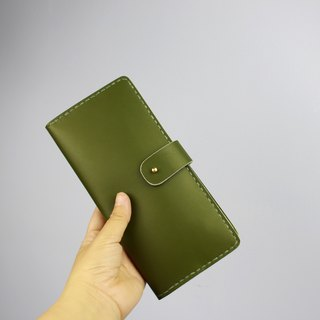 Zemoneni unisex leather purse Wallet in Oliver green color