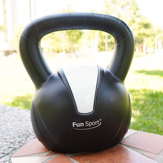 """Fun Sport"" 12 kg kettle kettle kettlebell (black) - Made in Taiwan"