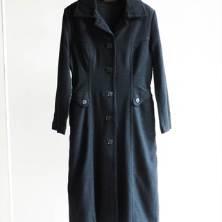 River Hill - Kagawa century French classic elegance Slim version of model antique wool sheep wool wool coat jacket vintage wool vintage overcoat oversize