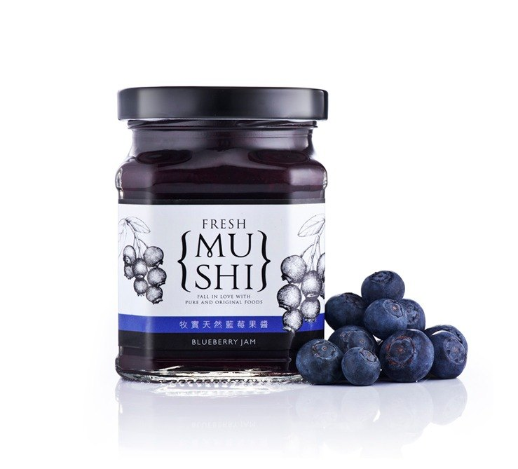 Selected from solid natural products, animal husbandry, {} blueberry jam sweet classic 100% pure fruit │250g