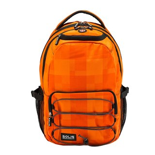 "SOLIS [ Magic Show Series ] 13"" drawstring laptop backpack(Orange)"
