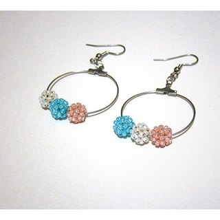 Candy circle earrings