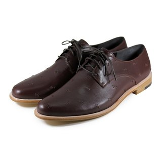 Snowdrop M1091 Stitching Brown Leather Derby shoes