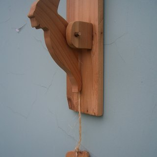[Woodpeckers] Hand-made door hammer love fir workers grocery zakka doorbell Furnishings